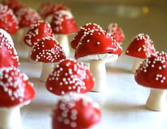 sweet wedding treats edible favors whimsical mushrooms and Reception, Styles, Sweets, Whimsical Wedding, Woodland Wedding, Boho Wedding, Enchanted Forest Party, Edible Favors, Chocolate Filling, Mad Hatter Tea, Fondant, Stuffed Mushrooms