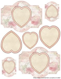 Valentine's Day labels and hearts printable ~ lilac-n-lavender (540x700, 250Kb)