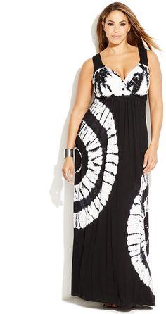 Plus Size Tie-Dyed Maxi Dress (now on sale!)