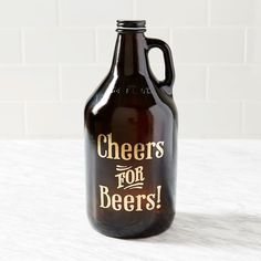 Exclusive to west elm Market, the Cheers for Beers growler is an effective way to store and transport your beer. Equally suited for tailgating season as it is for keeping homemade microbrews fresh, it makes a great gift.