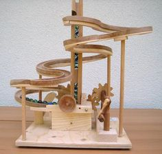 Seven amazing marble machines by Paul Grundbacher made with scrap wood from nearby factory.