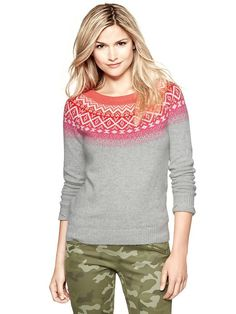 I love Fair Isle for winter. Gap | Fair Isle crew sweater