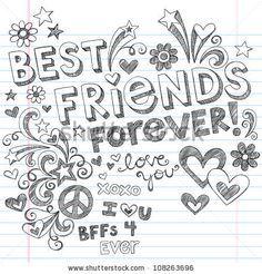 best friends drawings - Google Search