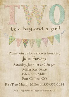 invite for shower or could be for birthday party too!