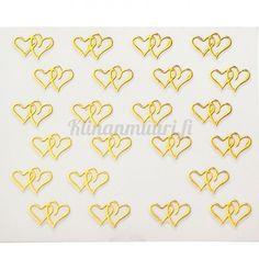 Sydän kynsitarrat - Kulta