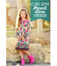 Free pattern: Long sleeved peasant dress for little girls