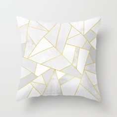 Buy White Stone Throw Pillow by Elisabeth Fredriksson. Worldwide shipping available at Society6.com. Just one of millions of high quality products available.