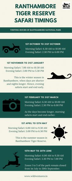 Safari timings at Ranthambore Tiger Reserve