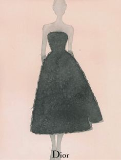 Mats Gustafson illustration for Dior