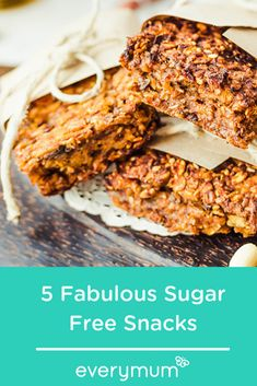 Sugar free never tasted so good! Fruit and Nut Bars, No-bake coconut balls, Pineapple and Carrot cake, Baked root vegetable crisps and Peach Muffins - all sugar free! Sugar Free Fruit Cake, Sugar Free Fruits, Sugar Free Snacks, Low Sugar Recipes, New Recipes, Baking Recipes, Peach Muffins, Fruit And Nut Bars, Vegetable Crisps
