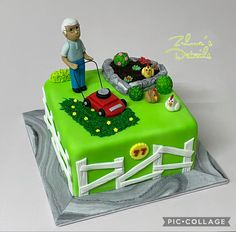 Garden Theme Cake, Custom Cakes, Themed Cakes, Desserts, Food, Personalized Cakes, Theme Cakes, Tailgate Desserts, Deserts