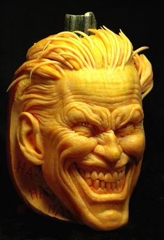 OK, it's not a product but, this is a pumpkin carving of the Joker. Amazing!