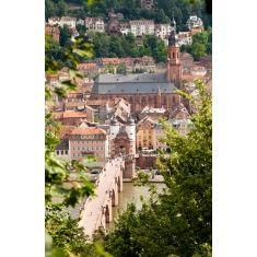 Alte Brücke, Heiliggeistkirche, Heidelberg, tolle Fototapete von Merian, Fotograf: T. Langlotz