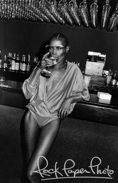 Grace Jones at Studio 54 in NYC