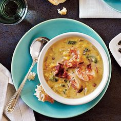 Bacon-Corn Chowder with Shrimp Recipe | MyRecipes.com