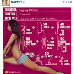 15 min workout and yes you will sweat!