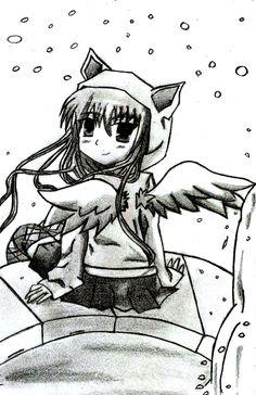 Mi ángel que lleva días sin volar, pensativa, pero sin perder la alegría que la caracteriza