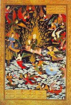 Мухаммед верхом на Бураке