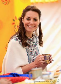 """This is where we get to the """"Kate: Warrior Princess"""" part, which was certainly a highlight of the day. The couple went to have tea with Prince Dasho and view some archery."""