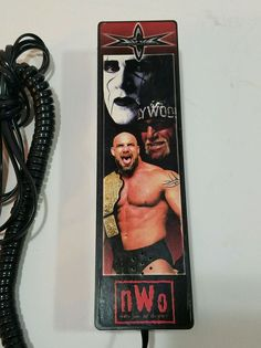 """Dated On one side of the phone it says, """"Where the Big Boys Play. Sting Wcw, Nwo Wrestling, Boys Playing, Big Boys, Phone, Touch, Button, Vintage"""