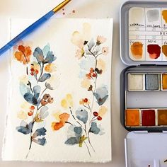 ・・・ I am going to over load you with watercolors this weekend because I can . Prima Watercolor, Watercolor Illustration, Watercolor Flowers, Watercolor Paintings, Illustrations, Watercolours, Art Techniques, Painting Inspiration, Diy Art