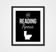 Bathroom Decor 'The Reading Room' Humorous Funny by Picturality
