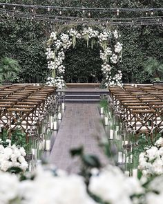 One Couple Planned a Stylish Black-and-White Wedding in Los Angeles Wedding Reception Planning, Wedding Ceremony, Wedding Venues, Wedding Favours, Private Wedding, Dream Wedding, Our Wedding, White Roses, White Flowers