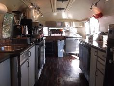 Interior Rear to Front by Airstream Cafe, via Flickr