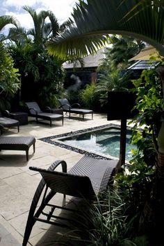 Le jardin du spa au Palm Hotel #IleReunion