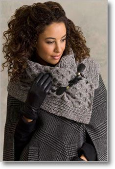 Austen Cabled Cowl with Toggles from Interweave store (downloadable pattern).