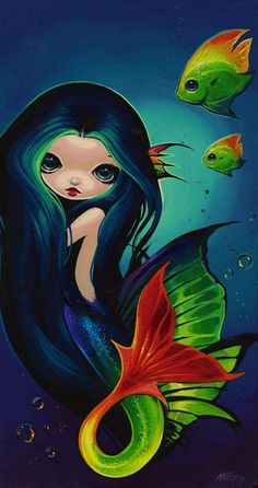 Little Adelaide by Artist Nico Niemi Mermaid Artwork, Mermaid Drawings, Fantasy Mermaids, Mermaids And Mermen, Gata Marie, Mermaid Fairy, Gothic Fairy, Beautiful Fairies, Artist Portfolio