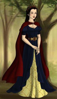 Snow White -- Made on Azalea's Dress Up Dolls