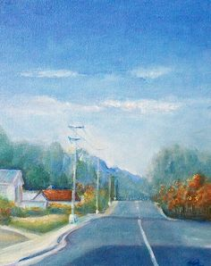 Highway To Heaven by Jane See Acrylic on canvas board 8 x 10 in
