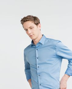 New Collection Online Formal Shirts For Men, Twill Shirt, Fashion Catalogue, Latest Trends, Zara, Men Casual, Menswear, Shirt Dress, Mens Tops
