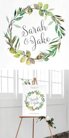 Wedding Welcome Sign, Wedding Sign, Welcome Sign, Printable. This Printable Wedding Welcome Sign is the perfect way to greet your guests as they celebrate your special day with you. It can also be altered for other events like engagements etc. #etsy #affiliate #wedding