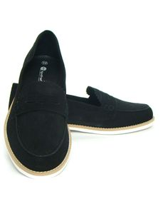 official photos 1d831 6ee0c Black Suede Leather Ballerinas For Women ( Leather Upper Material    Check  out the image