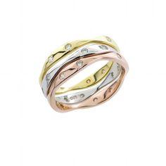 Stackable Wave Ring Set