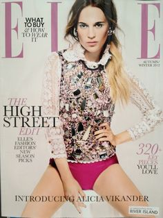 Decogirl crystal earrings featured in Elle magazine October 2012