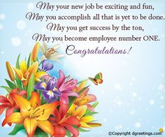 May your new job be exciting and fun. New Job Congratulations Cards New Job Quotes, Career Quotes, New Job Wishes, New Job Party, New Job Congratulations, Whatsapp Pictures, Job Career, Handmade Birthday Cards, Birthday Wishes