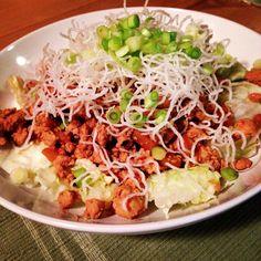Asian lettuce wraps turned salad