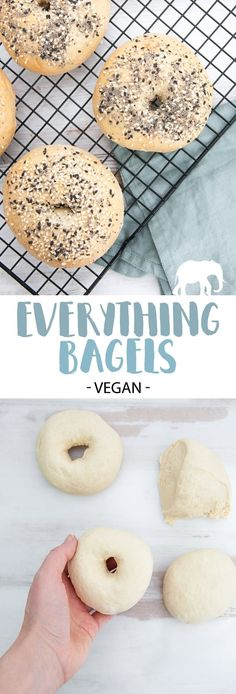 Everything Bagels - easy to make at home! | ElephantasticVegan.com #vegan #bagels #everything #bread via @elephantasticv