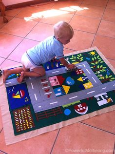 DIY Felt Play Mat | Powerful Mothering