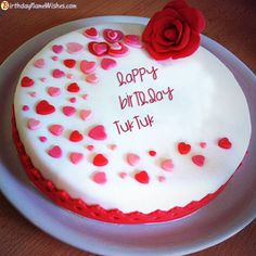Tuktuk Birthday Cake Latest Birthday Cake, Heart Birthday Cake, Online Birthday Cake, Friends Birthday Cake, Birthday Wishes With Name, Birthday Cake Writing, Happy Birthday Wishes Cake, Happy Birthday Cake Images, Beautiful Birthday Cakes
