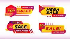 Sale banners set Premium Vector | Premium Vector #Freepik #vector Textile Texture, Paper Texture, Promotional Banners, Shop Price, Orange Background, Label Templates, Sale Banner, Banner Template, Discount Shopping