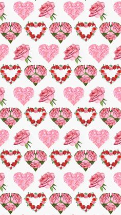 Flowery Wallpaper, Heart Wallpaper, Love Wallpaper, Screen Wallpaper, Wallpaper Backgrounds, Iphone Wallpaper, Wallpapers, Valentine History, Paper Hearts