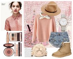 Lovely pink girly outfit! #Fashion combos at OASAP!
