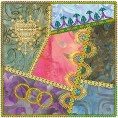 Crazy Quilt Series 1 Pt 1, Molly Mine Embroidery Machine Designs