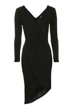 **Ruched V-neck Bodycon Dress by Wal G