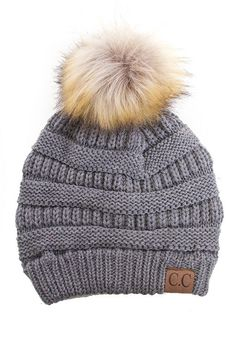 pretty nice 8eeb5 609af Light Grey Beanie with Pom Pom Knit Beanie, Cc Beanie, Beanie Hats, Pom