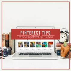 Pinterest Tips Video Interview and Free Downloadable Tips List How To Get Followers, I Sent You, Pinterest For Business, Mixed Media Canvas, Tag Art, Social Media Tips, Art Blog, Business Tips, Interview